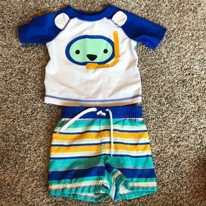 Old Navy NWOT 3-6 month boy swim set
